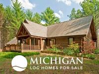 Michigan log homes and cabins for sale